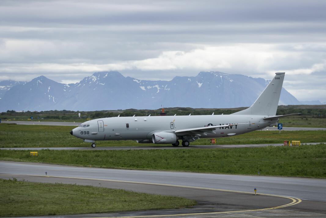 FLYSTASJON: Ap og Senterpartiet vil ikke snu vedtaket om å legge ned Andøya flystasjon og flytte de maritime patruljeflyene til Evenes. Her ser vi et amerikansk P-8 på Andøya flystasjon i forbindelse med øvelse Dynamic Mongoose i 2018.
