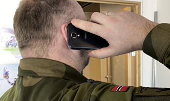 Mobilforbud under øvelsen