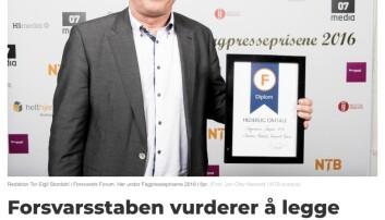 Faksimile fra fagbladet Medier24.