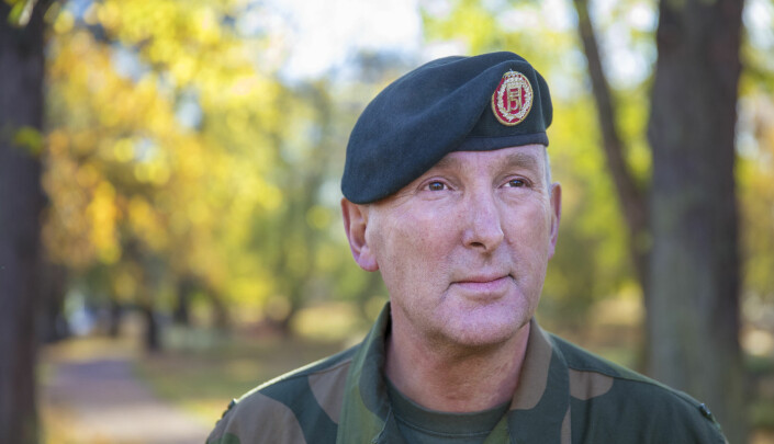 Generalløytnant Rune Jakobsen, Sjef Forsvarets operative hovedkvarter, under et folkemøte om øvelsen Trident Juncture i 2018.