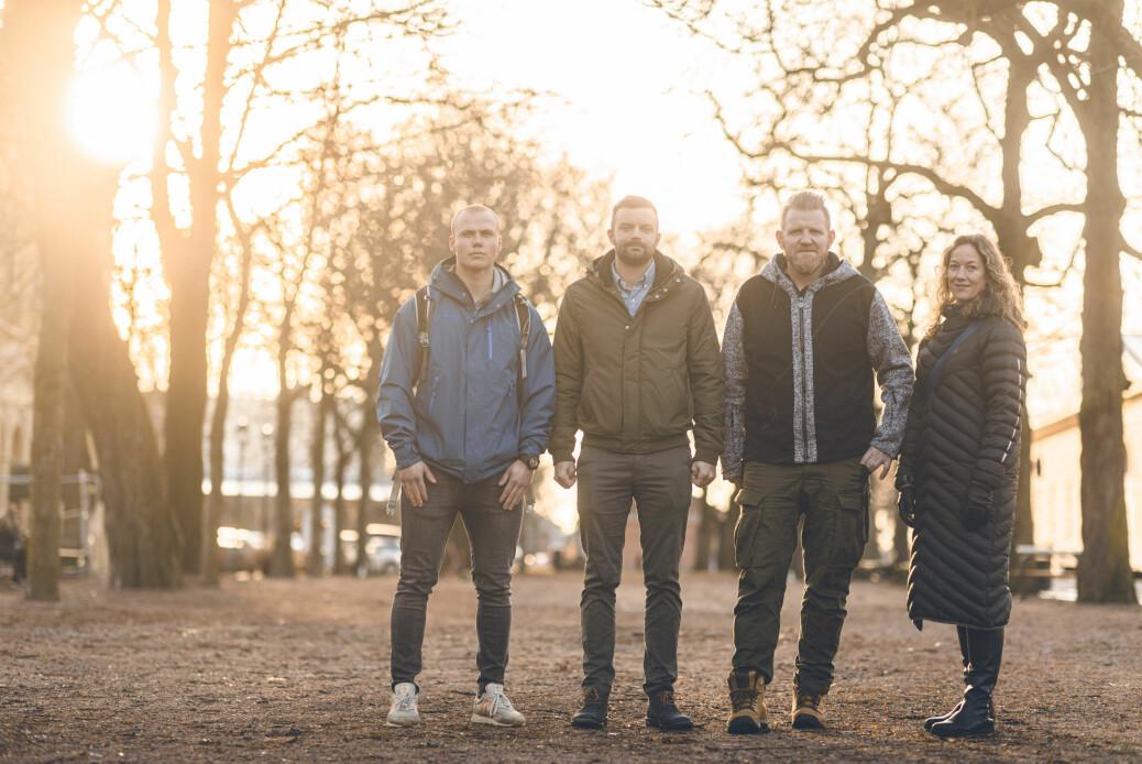 Vognfører Benjamin Christensen, troppssjef Magnus Bjurstedt, styrkesjef Stein Grongstad og juridisk rådgiver Marianne Sperre.