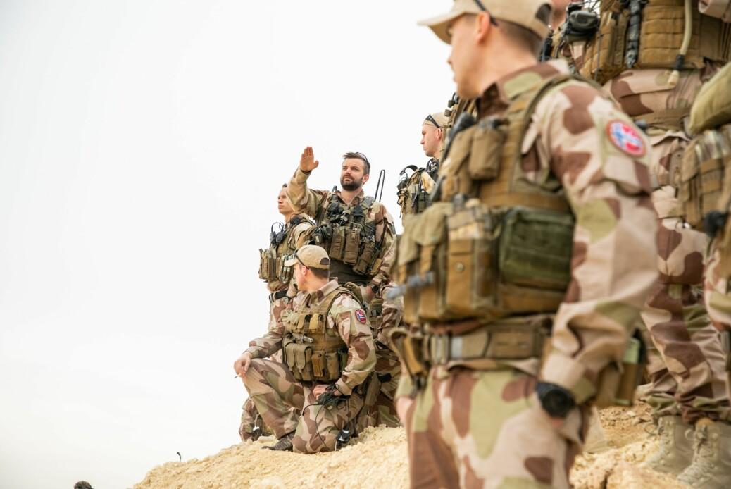 Den norske force protection troppen, med troppsjef Magnus Bjurstedt i fokus. Her i Andbar, Irak.