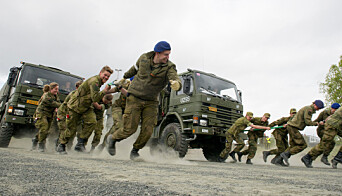 Fra et soldatarrangement i Indre Troms.