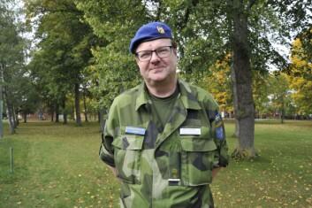 Erkjennelse. Lasse Jansson mener det har blitt en større bevissthet blant politikere og befolkningen om forsvaret av Sverige. (Foto: Forsvarets forum)
