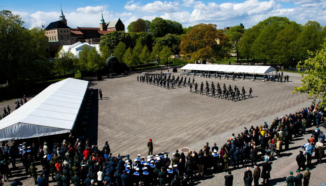 8. MAI: Regjeringen opplyser at markeringen av frigjørings- og veterandagen 8. mai på Akershus festning blir begrenset.
