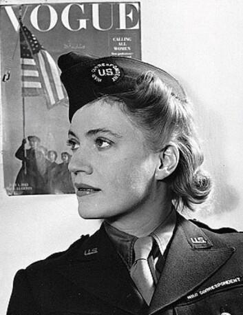 Lee Miller skreiv og fotograferte fra krigen til bladet Vogue.