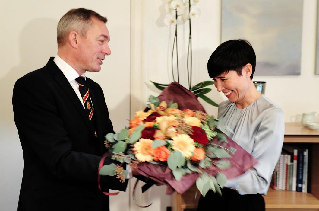 Ine Eriksen Søreide har vært forsvarsminister i fire år. Nå blir hun utenriksminister. Foto: TORBJØRN KJOSVOLD/FORSVARET