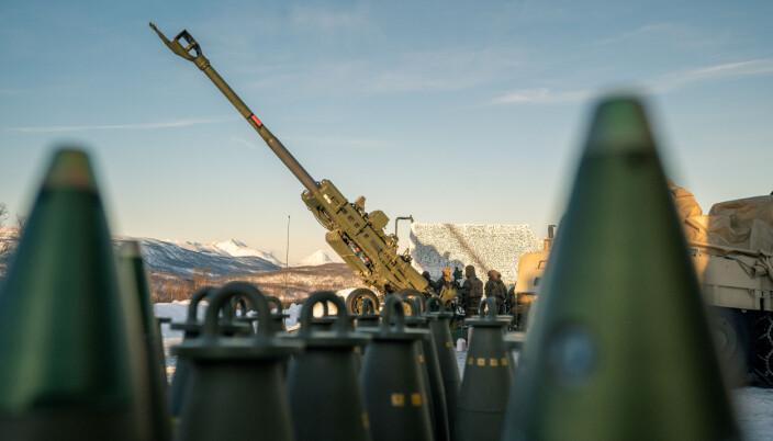 Et M777-artillerisystem under øvelse i Norge. Rørartilleri foreslås kraftig kuttet i US Marine Corps.