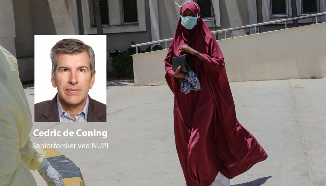 Spredning av koronaviruset til Afrika, som her i Somalia, påvirker fredsoperasjoner i regi av FN, skriver Cedric de Coning