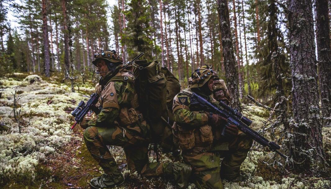 HVs innsatsstyrke Rype skulle etter planen stille med 65 under øvelse Aurora. Her samtrener de med Telemark Bataljon på Rena.