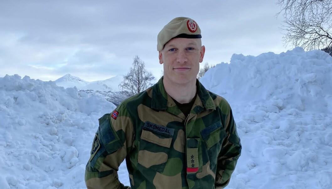 Kaptein Eirik Skomedal.