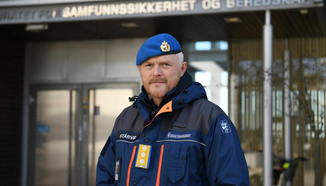 Sjef for Sivilforsvaret Tore Ketil Stårvik ber Oslo kommune se på andre ressurser enn dem i påsken.