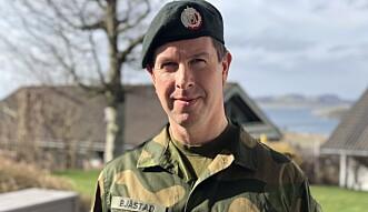 Jon Fauskanger Bjåstad, major og militærpsykolog ved IMPS.