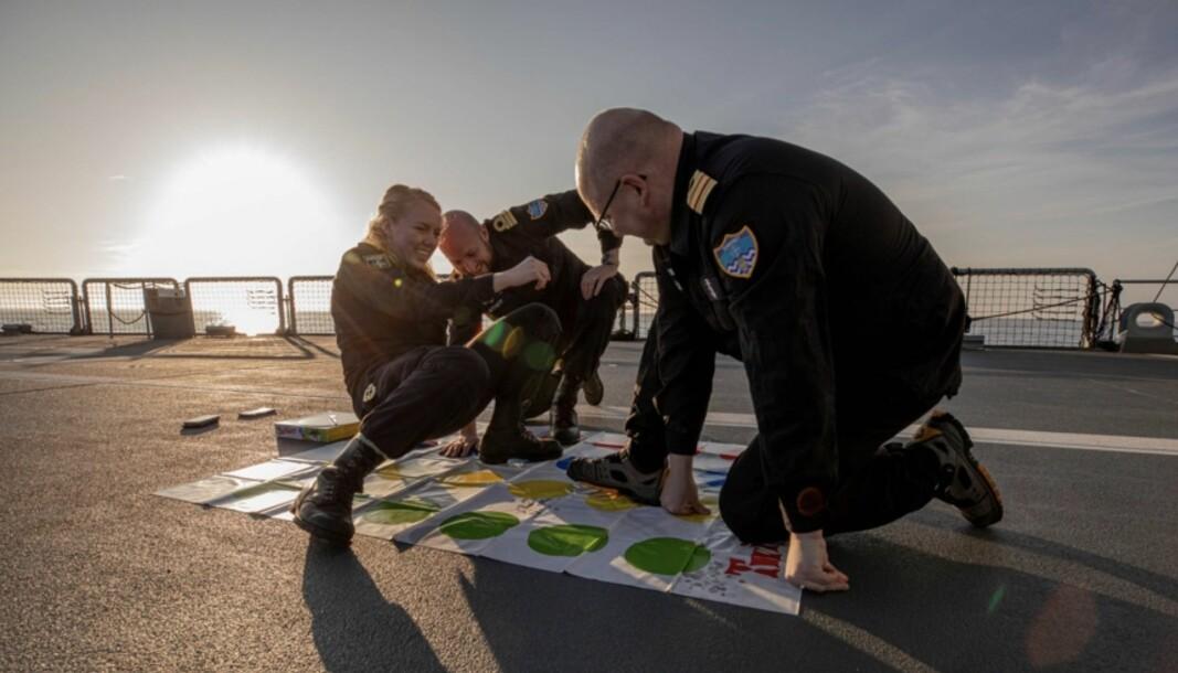 Spillet Twister har gjort suksess som avkobling for mannskapene i Natos stående minerydderstyrke.