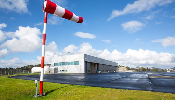 Helikopterbasen på Haakonsvern.