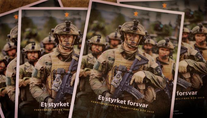 Illustrasjonsfoto av rapporten Forsvarssjefens Fagmilitære råd 2019.