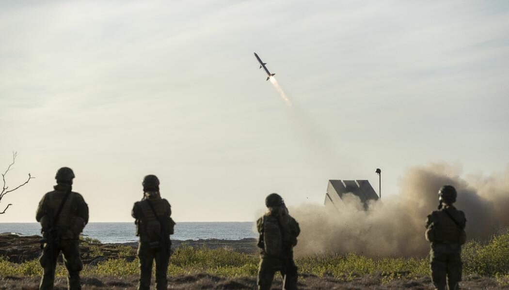 TEKNOLOGI: Norge har en svært avansert våpenindustri, skriver Christian Tybring-Gjedde. Her testskytes NASAMS (Norwegian Advanced Surface-to-Air Missile System) på Andøya.