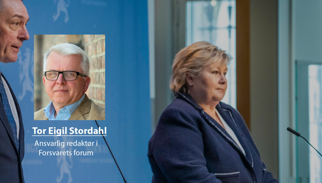 Forsvarsminister Frank Bakke-Jensen og statsminister Erna Solberg la fram sin plan for Forsvaret. Regjeringen foreslår å øke forsvarsbudsjettet med 16, 5 milliarder kroner fram mot 2028.