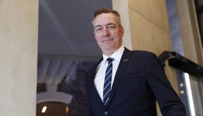 Forsvarsminister Frank Bakke-Jensen. under fremleggelsen av regjeringens forslag til langtidsplan for forsvarssektoren.