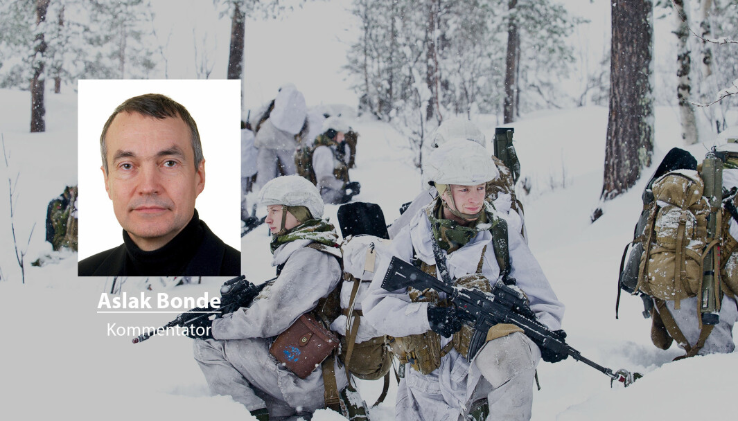 Det er åpenbart at opposisjonen vil ha felles ønsker om tiltak for å styrke hærmakten i nord, skriver Aslak Bonde. Her ser vi soldater fra 2. bataljon.