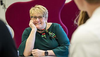 Oslo 20200211.  Kunnskaps- og integreringsminister Trine Skei Grande besøkte Blindern VGS i Oslo hvor hun snakket med elever. Foto: Tore Meek / NTB scanpix