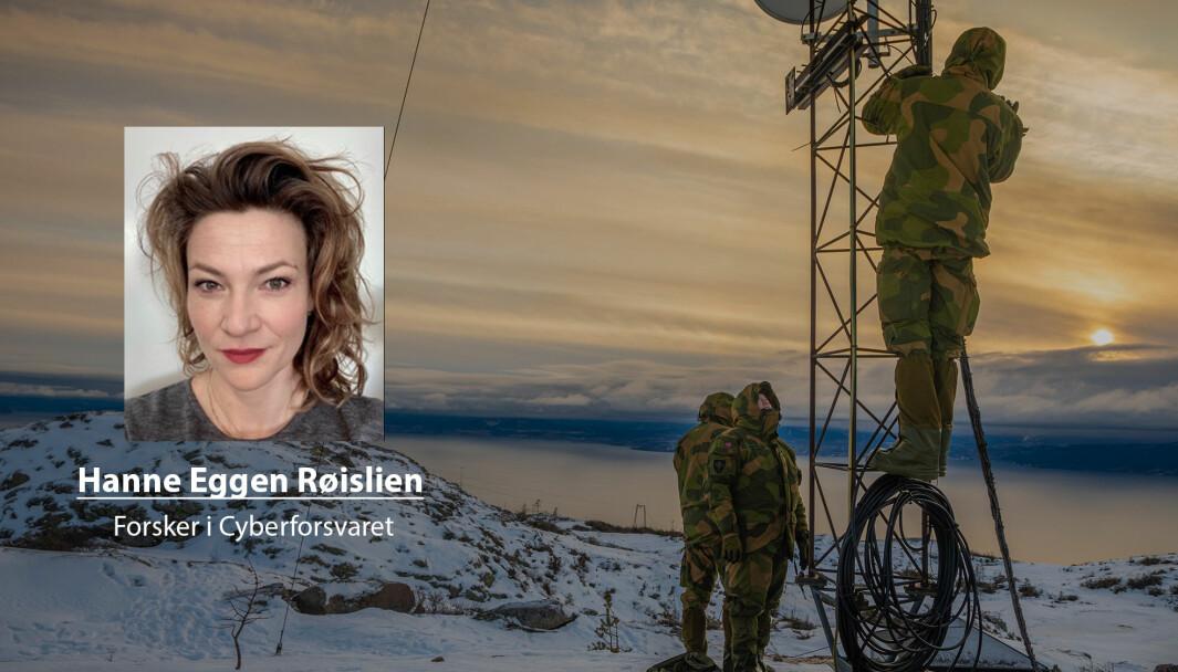 Langtidsplanen understreker betydningen av nye krigføringsformer og -domener, og med det behovet for å tenke annerledes enn tidligere, skriver Hanne Eggen Røislien. Her ser vi soldater fra Cyberforsvaret under en øvelse i 2019.