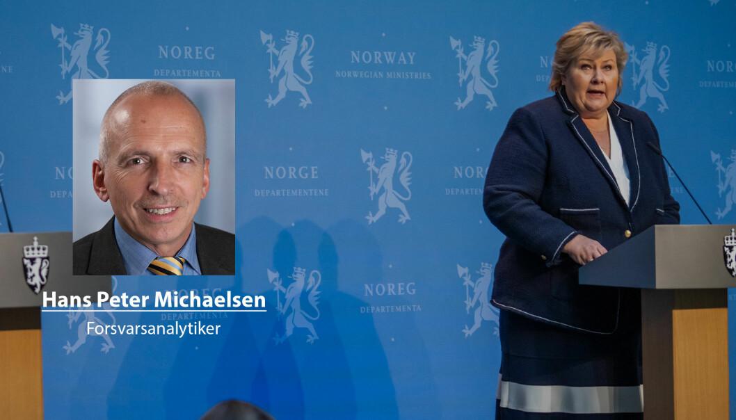 Regjeringen er ikke redd for at forsvarssjefen viser sin uenighet med det politiske valg, skriver Hans Peter Michaelsen.