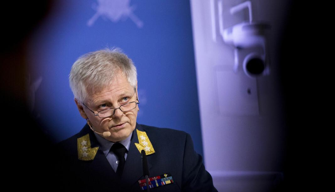Sjef for Etterretningstjenesten, generalløytnant Morten Haga Lunde, da han presenterte Etterretningstjenesten sin åpne trusselvurdering i 2018.