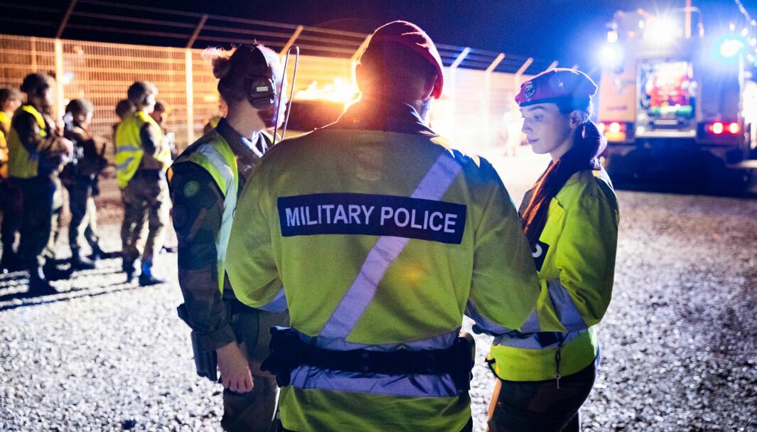 NB! Illustrasjonsbilde av militærpolitiet.