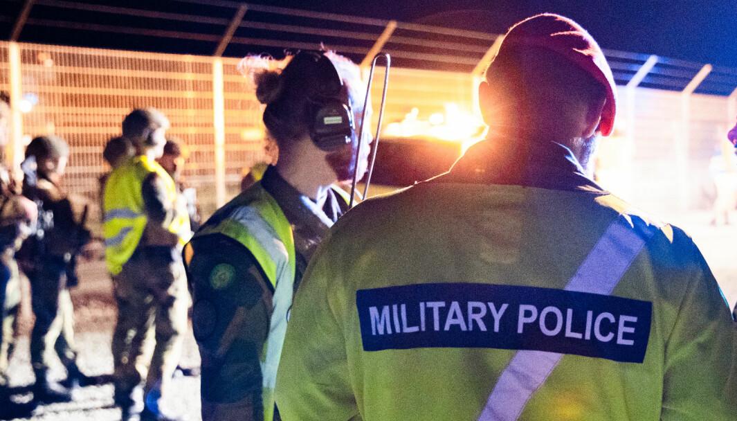 Illustrasjonsfoto av Militærpolitiet.