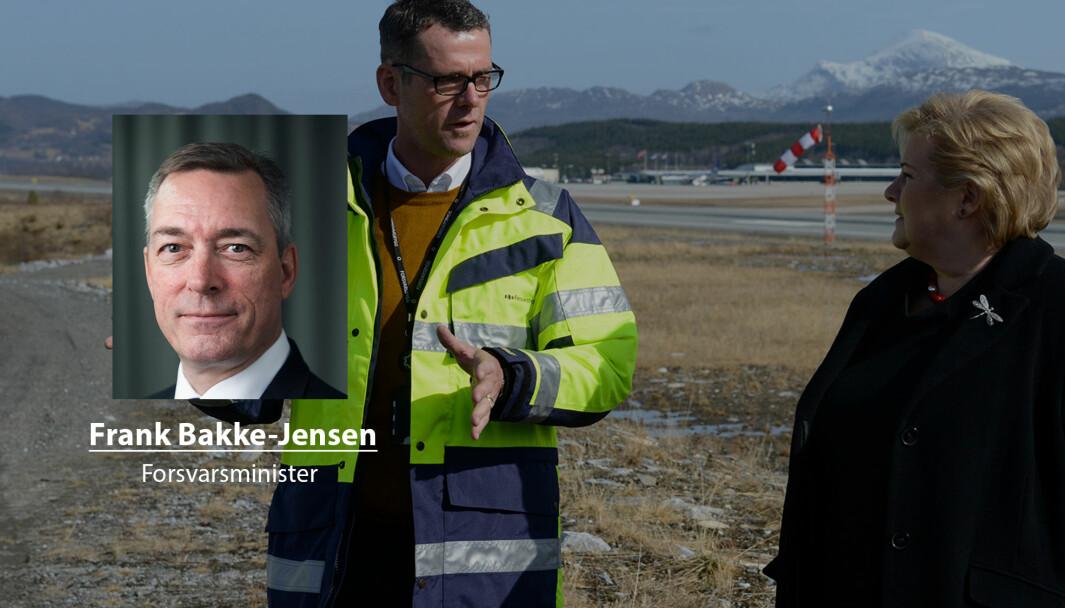 Valget av Evenes på bekostning av Andøya gir best beskyttelse og mest effektiv drift, skriver forsvarsminister Frank Bakke-Jensen. Her er statsminister Erna Solberg på Evenes.