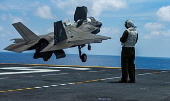 F-35 kan bli skadet ved overlydshastighet