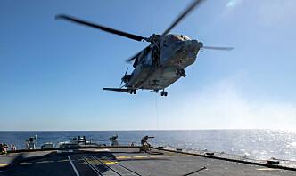 Søker etter Nato-helikopter som styrtet under øvelse