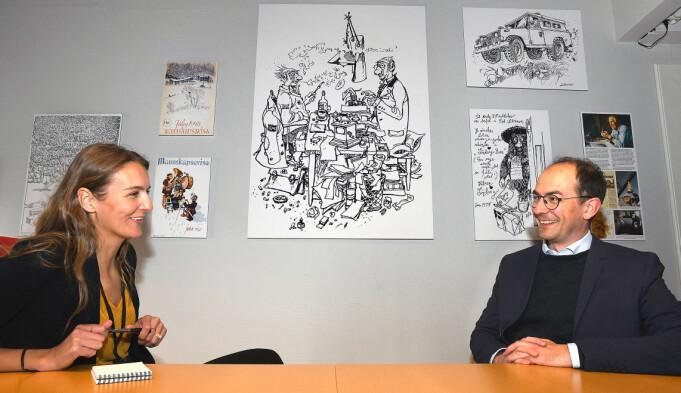 Stian Eisenträger i intervju med Forsvarets forum etter det ble kjent at han tar over sjefsstolen.