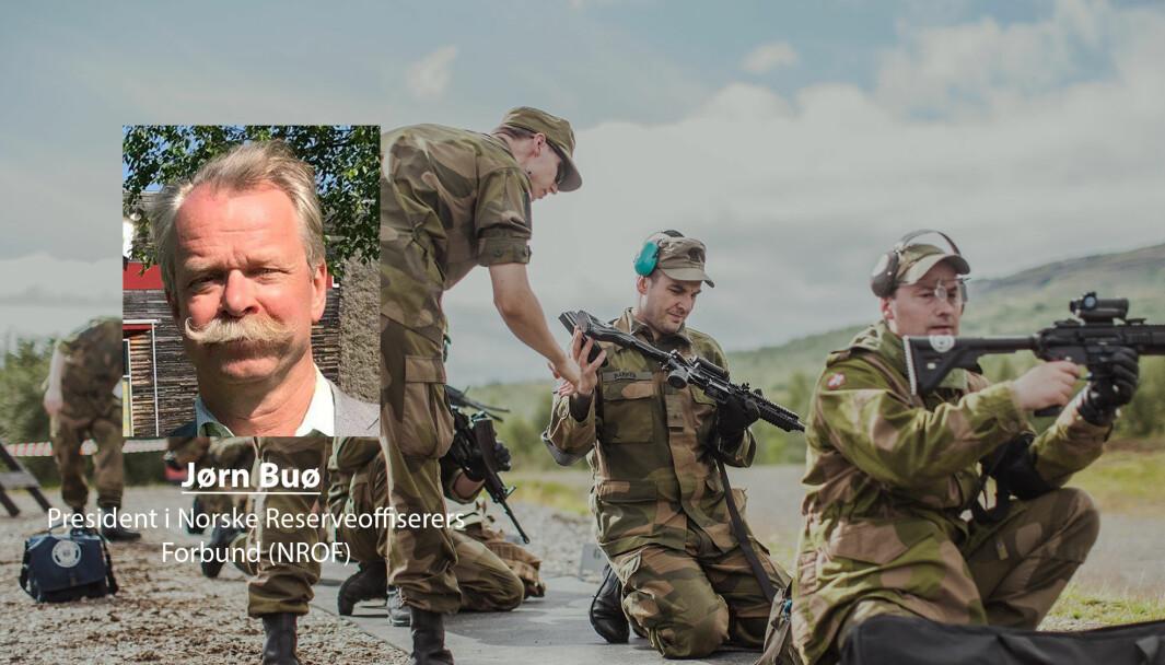 President i NROF, Jørn Buø, skriver at Forsvaret bør se verdien av å bruke reservistene. Dette bildet er fra Landsskytterstevnet i 2016 der NROF bisto i avviklingen.