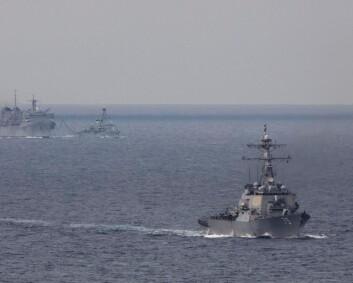 Amerikanske krigsskip tilbake i Barentshavet