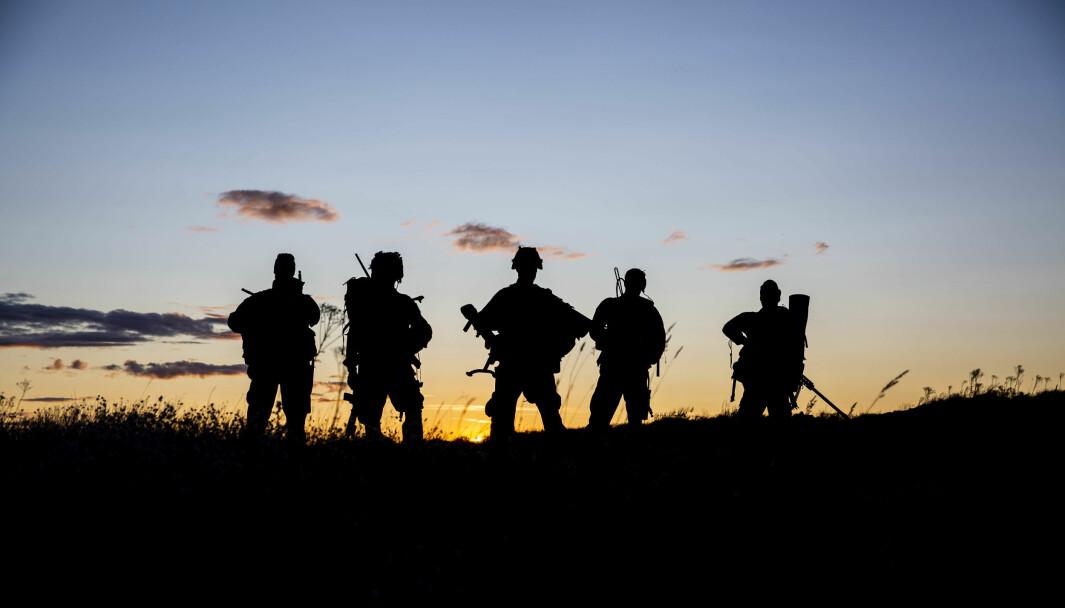 Soldater fra Heimevernet under en øvelse Vestfold i 2019.