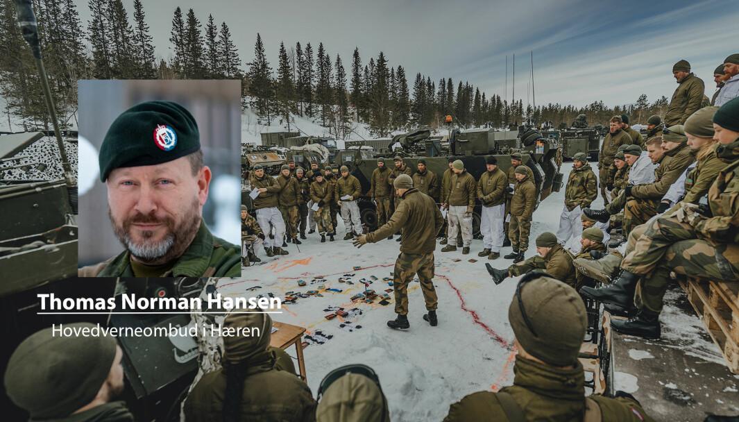 Uten særaldersgrense vil det bli vanskeligere å løse oppdragene i Forsvaret, skriver Thomas Norman Hansen. Her ser vi soldater fra Telemark bataljon under øvelse.