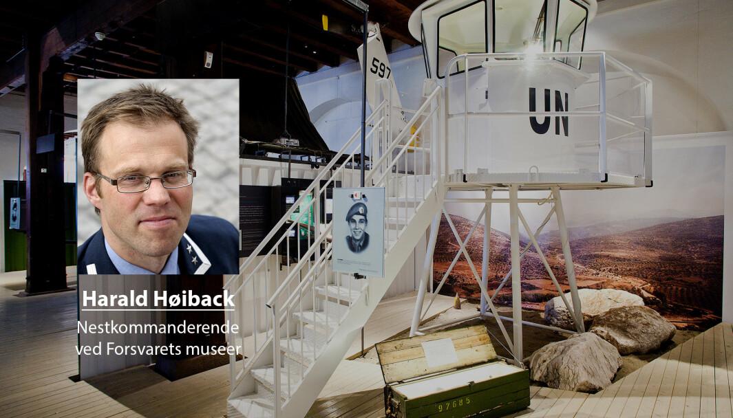 Skillet mellom kultur og «den spisse enden» er kunstig, skriver Harald Høiback. På bildet ser vi Intops-ustillingen på Forsvarsmuseet i Oslo.