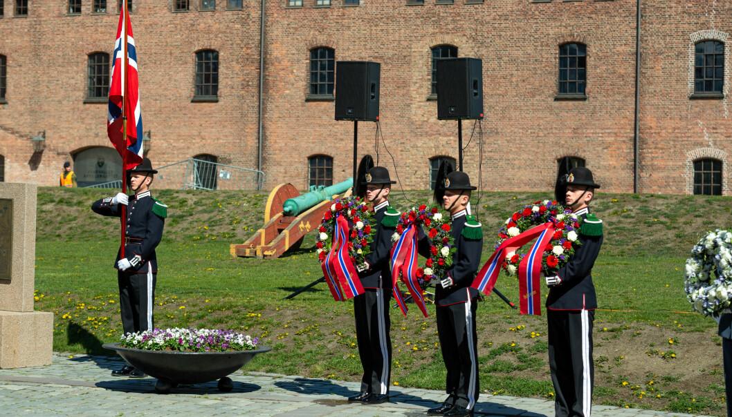 Markering av frigjørings- og veterandagen på Akershus festning 8. mai 2019.