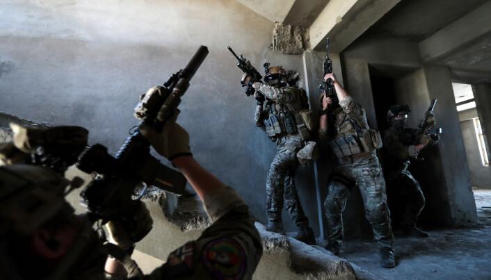 Soldater fra CRU 222 under trening i Kabul.