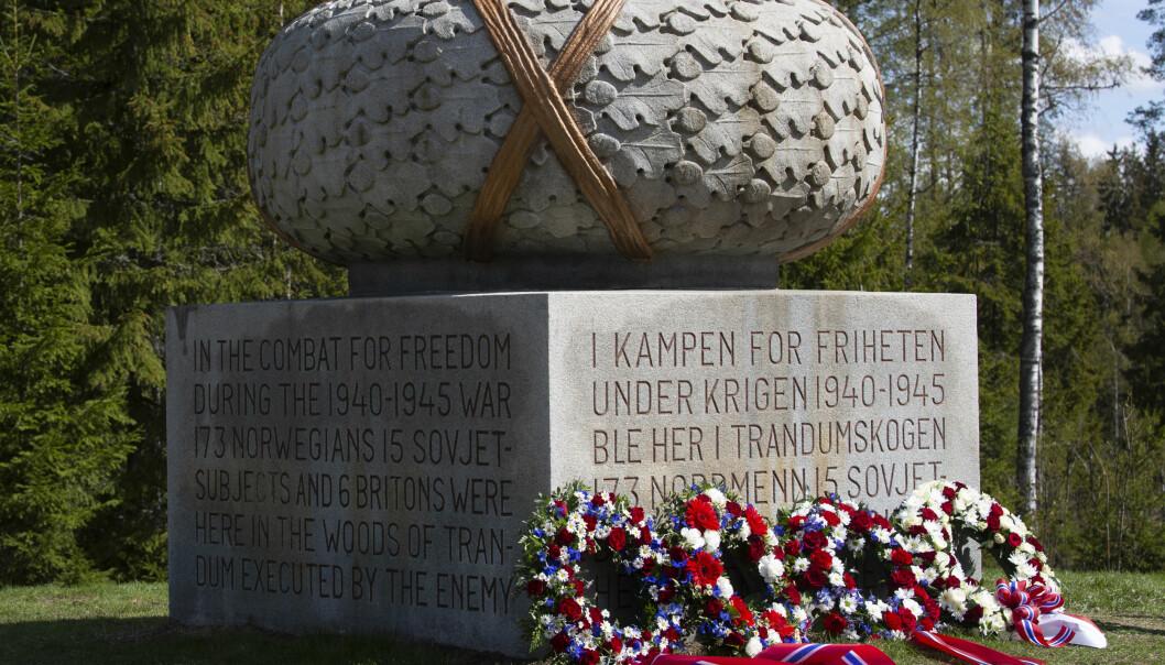 Bilde fra frigjørings og veterandagen 8.mai 2019 på Trandumskogen.
