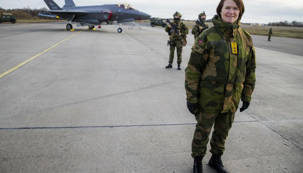 Sjef Luftforsvaret, Tonje Skinnarland, har blitt trukket fram som en av de mest aktuelle kandidatene som ny forsvarssjef.