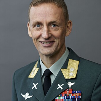 Sjef for Hæren, generalmajor Eirik Kristoffersen.