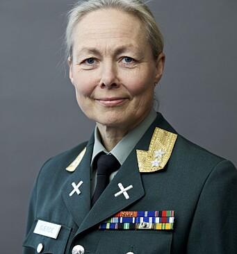 Generalmajor Ingrid Margrethe Gjerde, sjef for Planavdelingen.