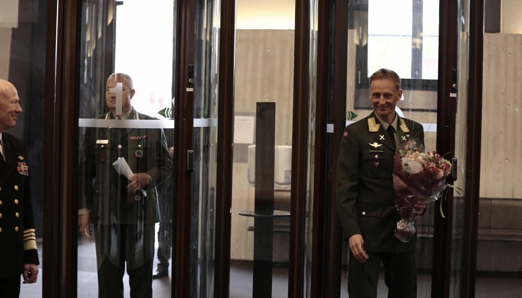 Eirik Kristoffersen blir presentert som forsvarssjef