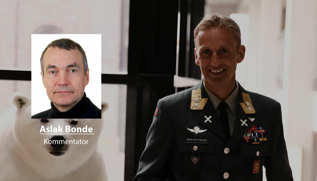 Eirik Kristoffersen har forutsetningen for å bli en av de beste forsvarssjefene, men han må vokte seg for ikke å bli sett på som en politisk nikkedukke, skriver kommentator Aslak Bonde.