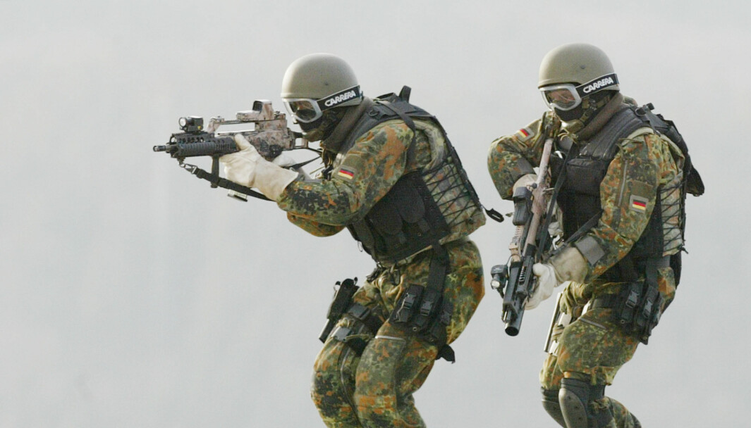 Soldater tilhørende KSK under en øvelse i 2004.