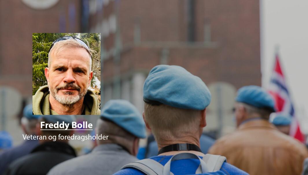 Veteranbegrepet bør bli romsligere. Det vil også Forsvaret tjene på, skriver Freddy Bolle. Her ser vi UNIFIL-veteraner med tjeneste fra Libanon under en parade i 2018.