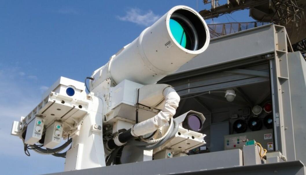 Laservåpen ombord på USS Pounce.